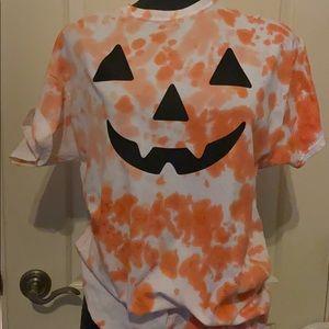 Adorable Halloween tie dye top